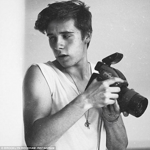 Budding snapper:Brooklyn Beckham, 18, who has proclaimed photography his 'passion', will be off to study the discipline at university in September, according to The Sun