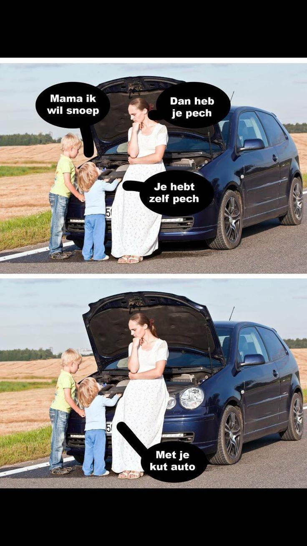 Met je kut auto