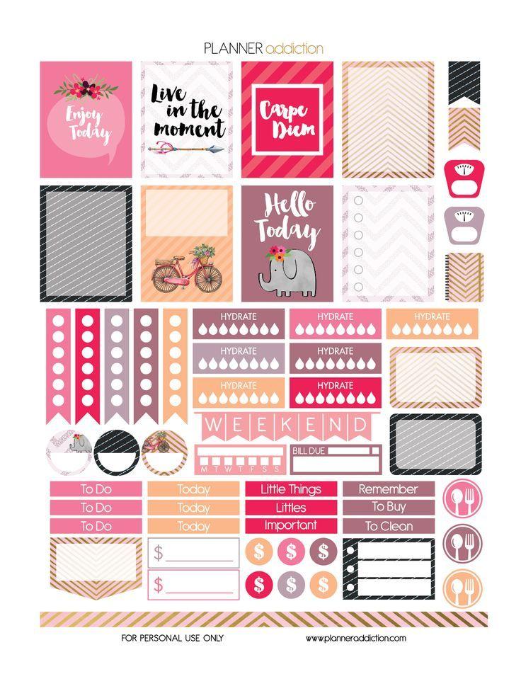 FREE Carpe Diem Printable Planner Stickers by Planner Addiction