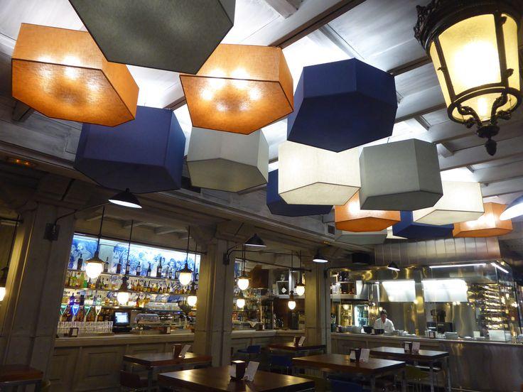 Plafones de techo de tela para Don Mauro.