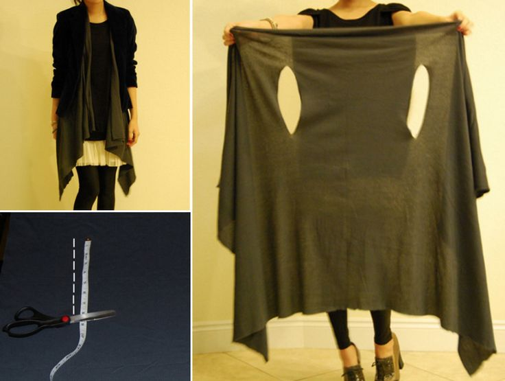 This NO SEW Layered Wrap only needs one metre of fabric and will suit all body types. Check out the Blanket Jacket too!