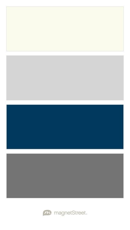 Ivory, Silver, Navy, and Charcoal Wedding Color Palette - custom color palette created at MagnetStreet.com