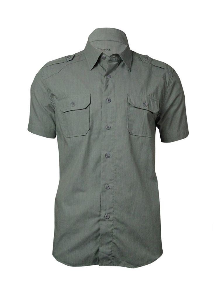 Comstock & Co. Men's Cotton Blend Safari Shirt