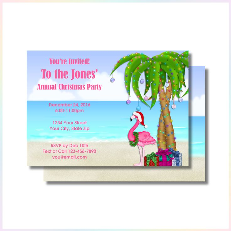 53 best Christmas Party Invitations or Greeting Cards images on ...