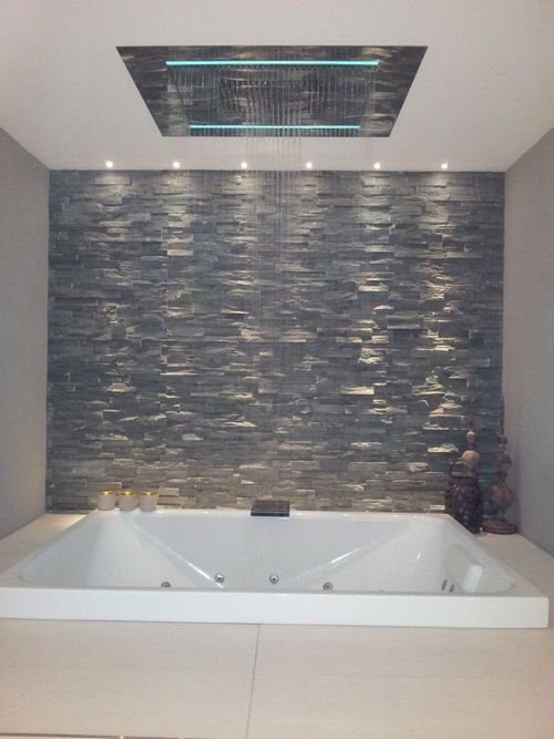 17 best images about bathroom feature wall on pinterest for Bathroom feature tile designs