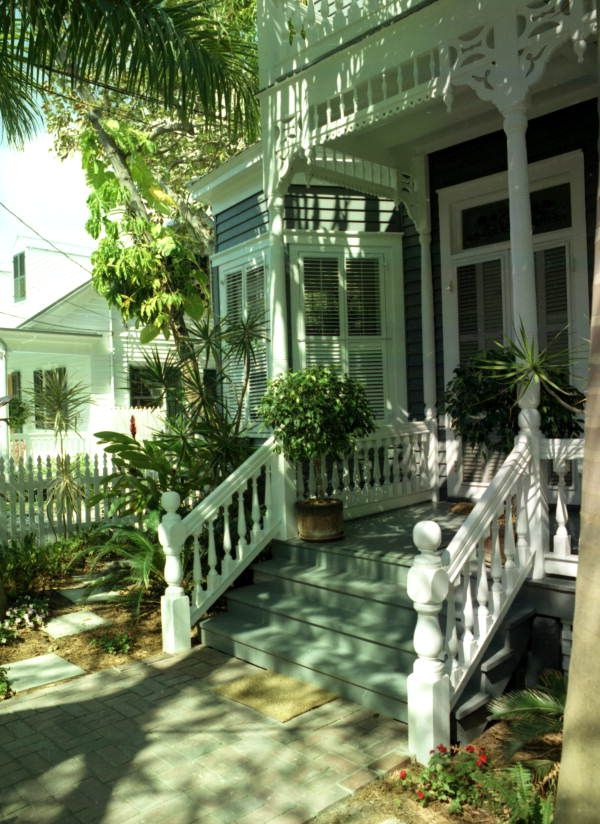Florida Memory - Front porch of Victorian style conch house on William Street, Key West, Florida.