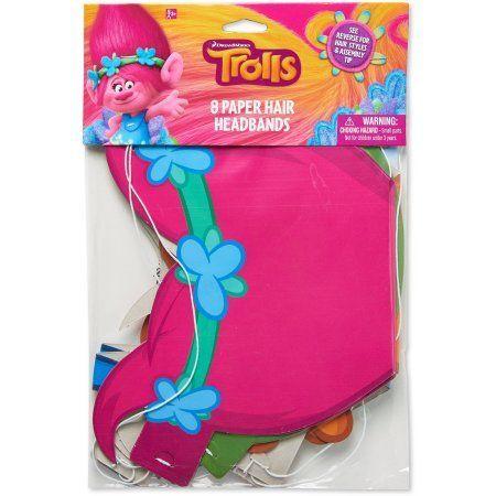 Trolls Paper Headbands, 8 Count, Party Supplies - Walmart.com