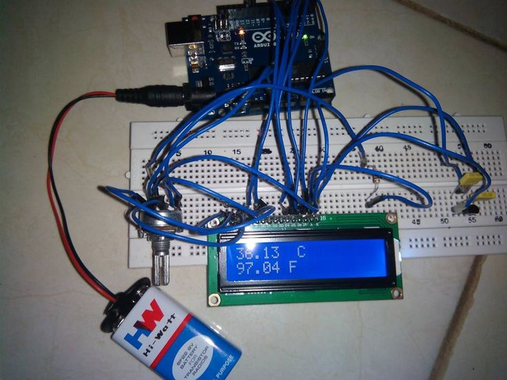 Arduino lcd termometer engineeringlife engineering