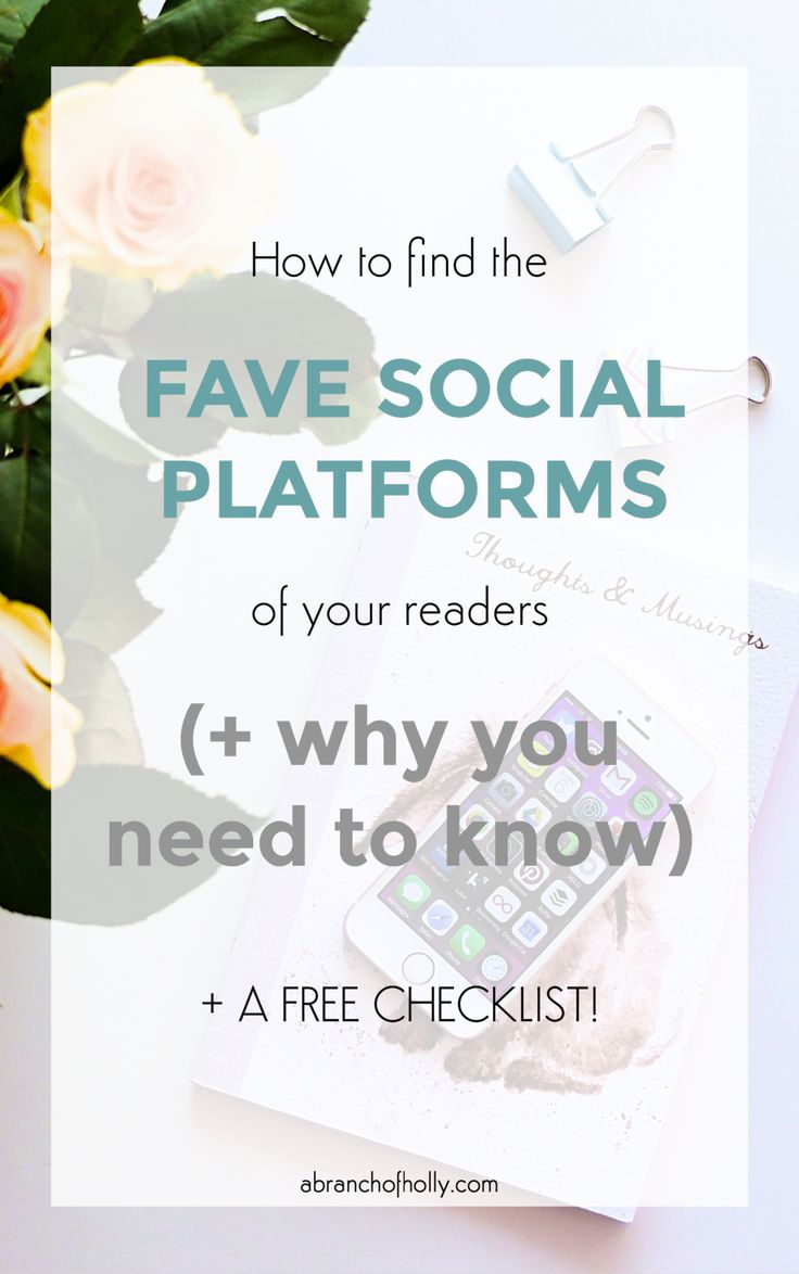 How to find the fave social platforms of your #readers (& why you need to know)