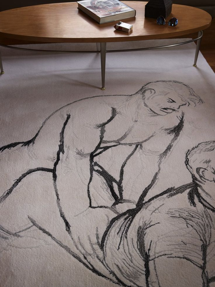 <p>Henzel Studio Heritage: Tom of Finland Handtufted Rugs</p> <p>Collection of Handtufted Rugs. Limited Edition and Numbered.</p> <p>100% Wool</p> <p>Made to order. Please expect 6 weeks for delivery.</p> <p>The artworks woven into the hand tufted rug designs consist of a series of preparatory drawings, many unseen or ever reproduced. They feature portraits, scenes depicting camaraderie, homoerotic gaze, irtation and sexual acts. One drawing outlines a man engaged in a boot fetish scene…