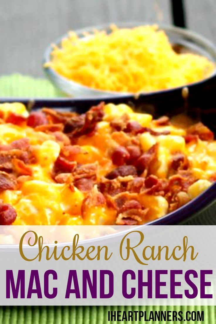 ... mac and cheese? This is a hearty and delicious family favorite. Enjoy
