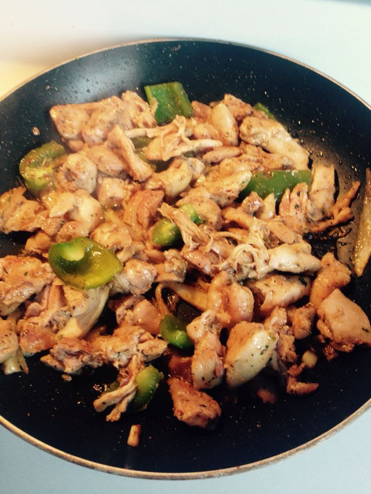 Chopped up chicken breast for they fam!