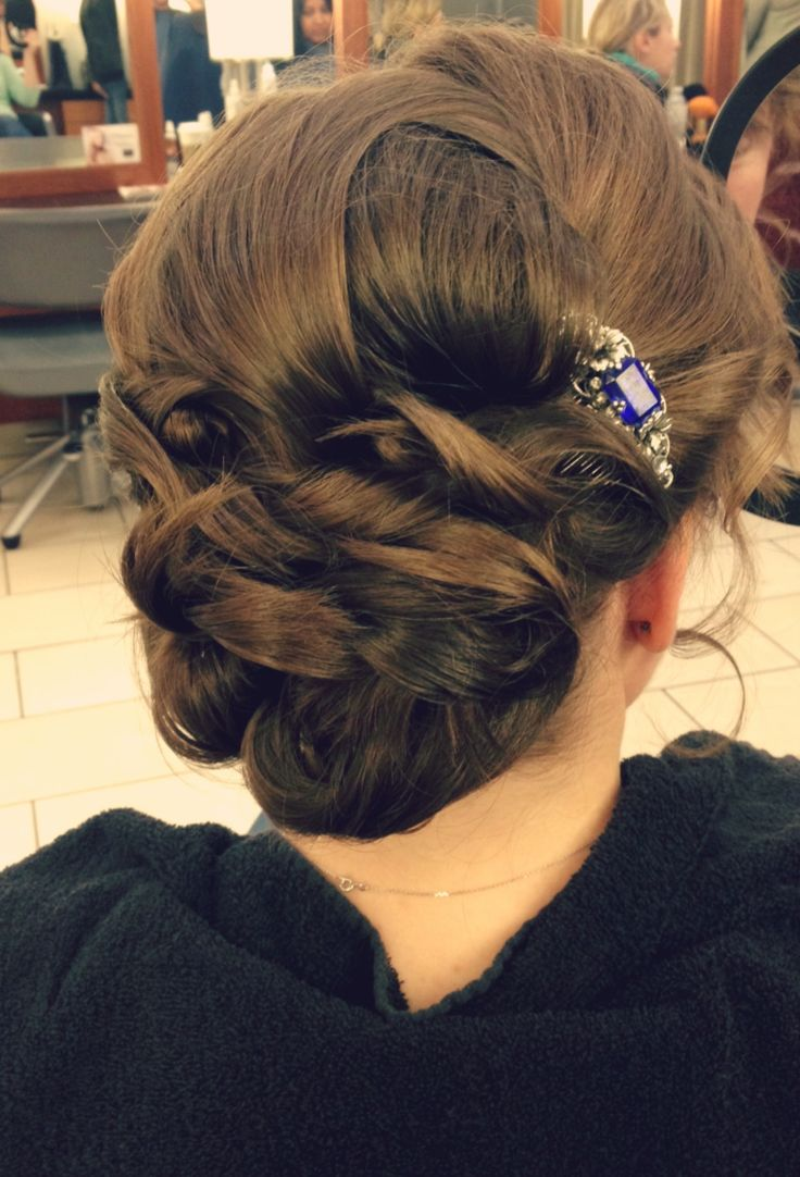 To add a touch of elegance, accessorize your Bridal Hair Style.   #hair #hairstyle #bridalhair #wedding  www.donato.ca