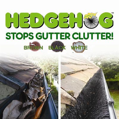 Original Hedgehog Gutter Brush Guard 100mm 40 Metre Pack Black Brown White in Home, Furniture & DIY,DIY Materials,Roofing | eBay