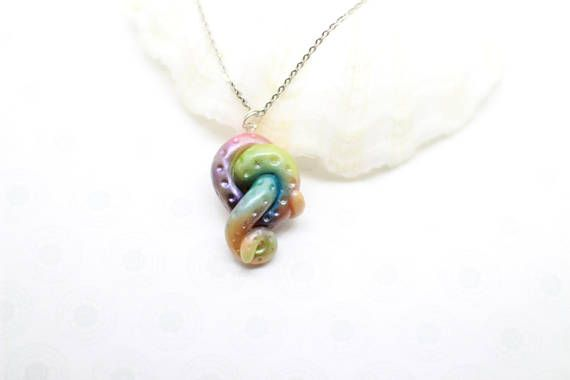 Joyería de arco iris collar pulpo tentáculo pulpo colgante