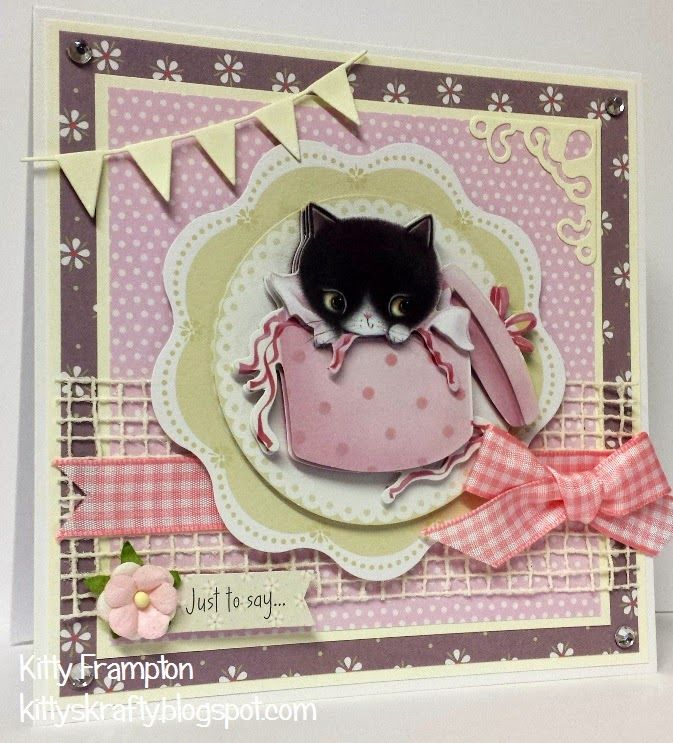 Making Cards Magazine Part - 30: Made By Kitty Frampton For Making Cards Magazine Using Docrafts Little Meow  Collection.