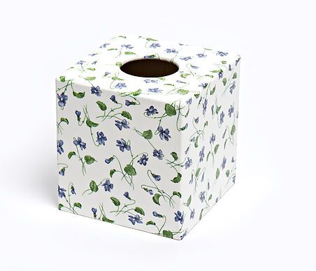 Viola Flower tissue box from Crackpots Tissue boxes and Bins