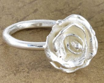 Sculpted rose, silver ring, Very flattering, Gift ring, Special ring, Designed ring, Sculpted ring, RS31 - Edit Listing - Etsy