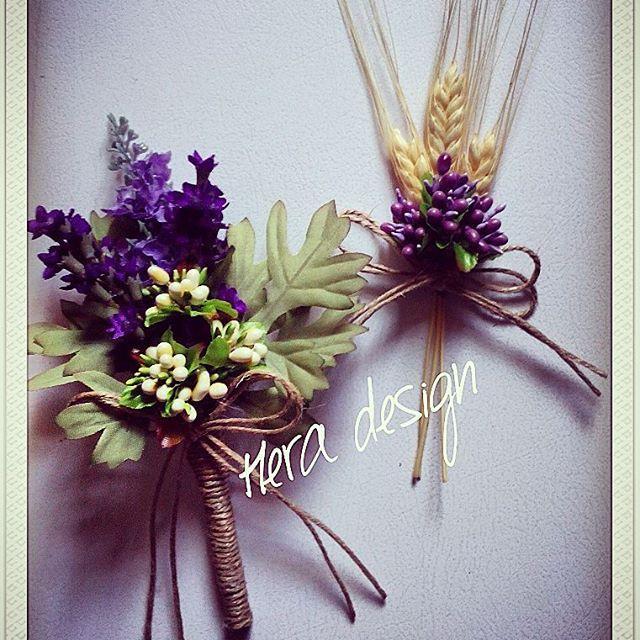 Damat ve sağdıçlar için hazırladığımız yaka çiçeklerimiz... #heradesign #özeltasarım #nikah #düğün #nişan #wedding #yakacicegi #damatçiçeği #groomboutonniere