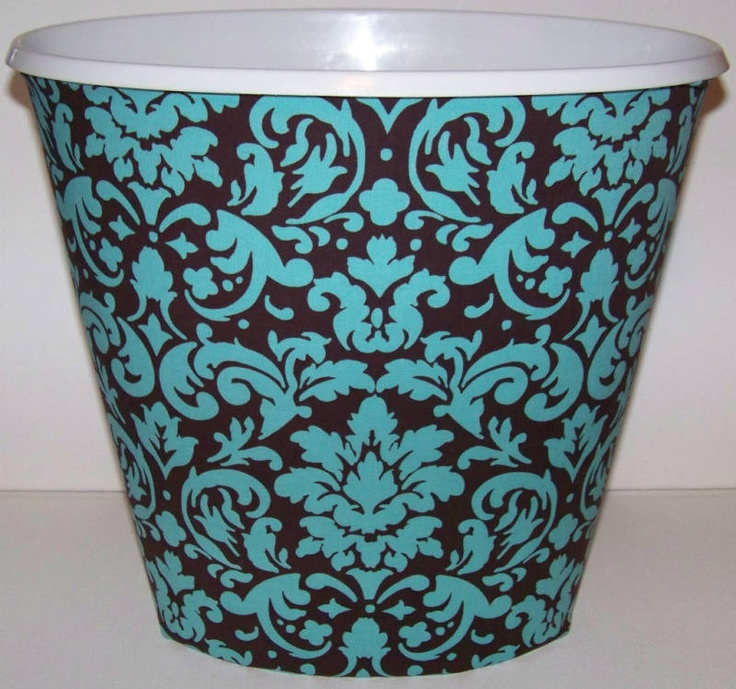 53 best images about ava bathroom on pinterest trash for Turquoise bathroom bin