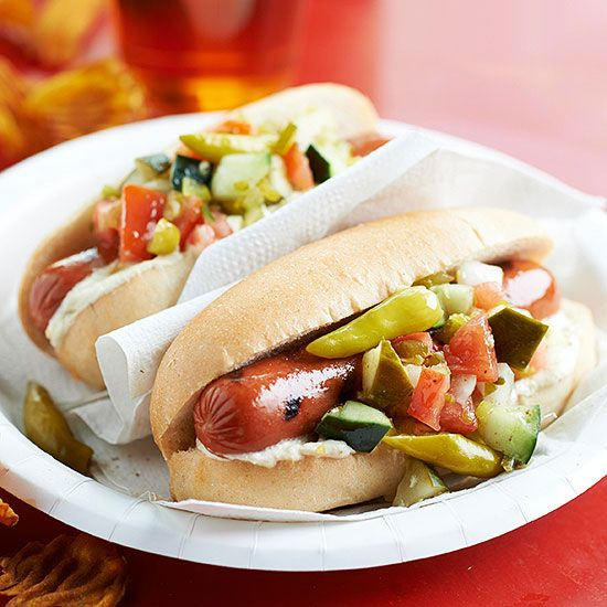 Step away from the ketchup! Try something new on your hot dogs with this yummy recipe: http://www.bhg.com/recipes/from-better-homes-and-gardens/july-2013-recipes/?socsrc=bhgpin070614hotdogwithhorseradishmustard&page=3