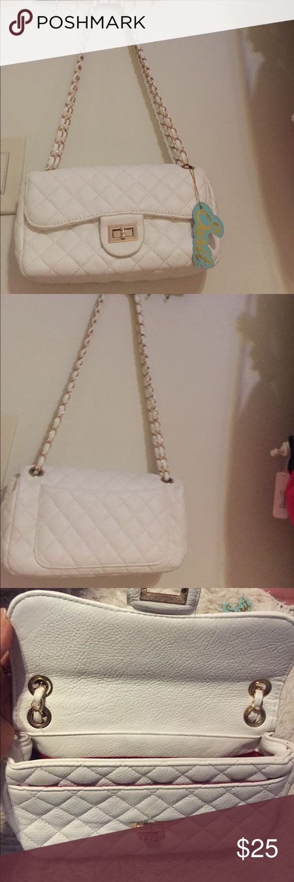 White Quilted Shoulder Bag White Quilted Shoulder Bag Bags Crossbody Bags
