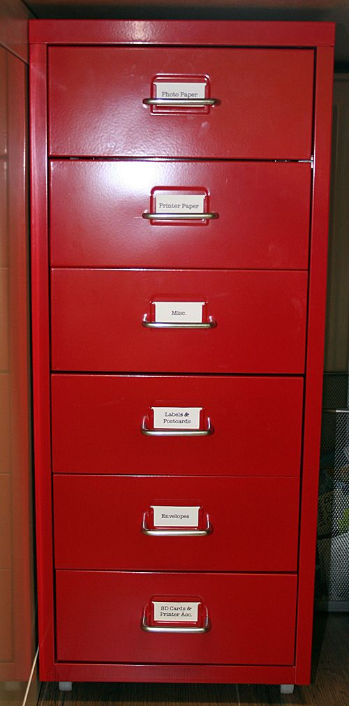 Red Filing Cabinet From Ikea!