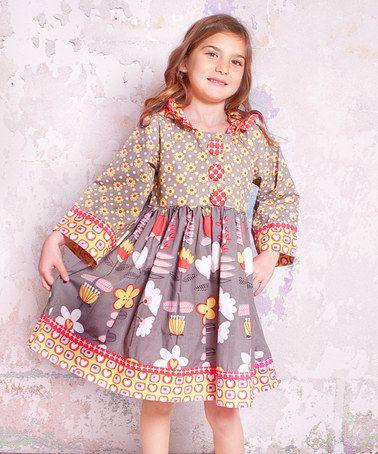 Love this Indian Summer Hanna Hooded Dress - Infant, Toddler & Girls on #zulily! #zulilyfinds
