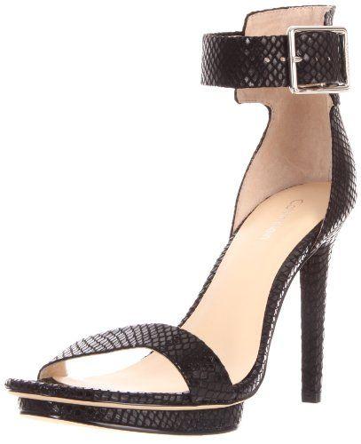 Calvin Klein Women's Vivian Patent Snake Print Sandal