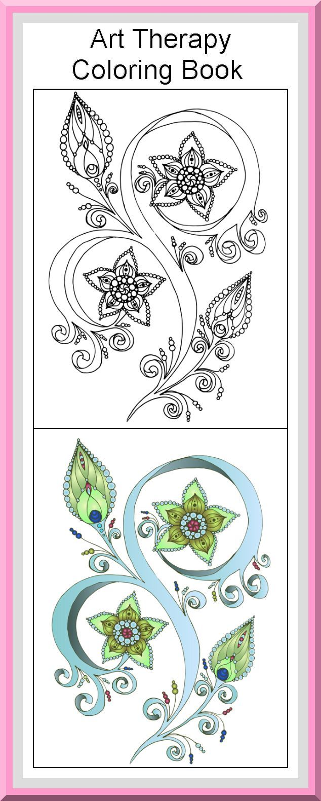 Mandala coloring pages art therapy recovery - Printable Art Therapy Coloring Pages 30 High Definition Coloring Pages Black Outlines With Colored Examples