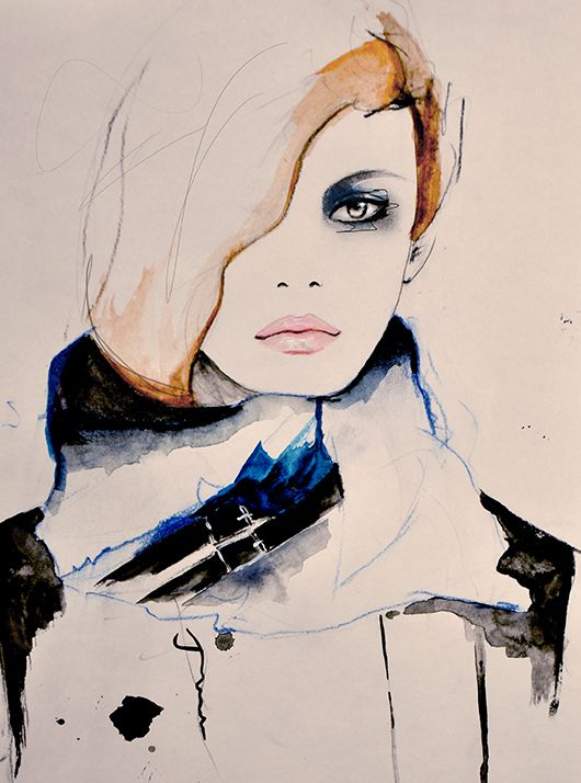 Illustration by Leigh Viner, inspired by the Phillip Lim collection