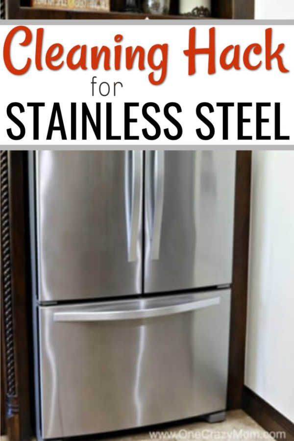 How To Clean Stainless Steel Cleaning Stainless Steel With 2 Ingredients Cleaning Stainless Steel Appliances Stainless Steel Cleaning Cleaning Stainless Steel Fridge