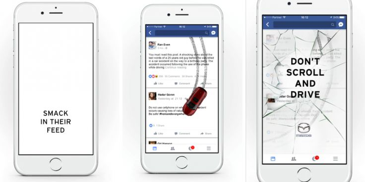 Mazda makes your Facebook feed a car-crash in safety ad drive | The Drum