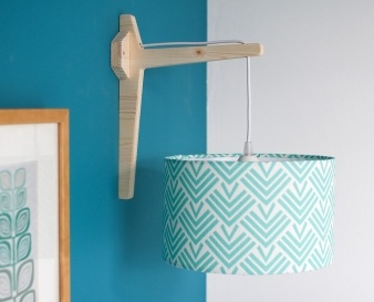Entrelacs lamp by Mademoiselle Dimanche #decoration #homedecor #teal