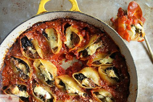 Pulled Pork and Broccoli Rabe Stuffed Shells by Heather Christo, via ...