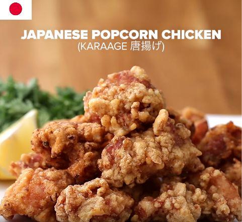 Pollo japonés de palomitas de maíz (Karaage) Para 2-3