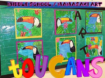 Mamasaki Art: Henri Rousseau For Kids- what animal will you put in your jungle .... Give kids a choice