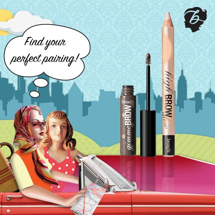 The perfect pairing for brows! #drivenbybeauty