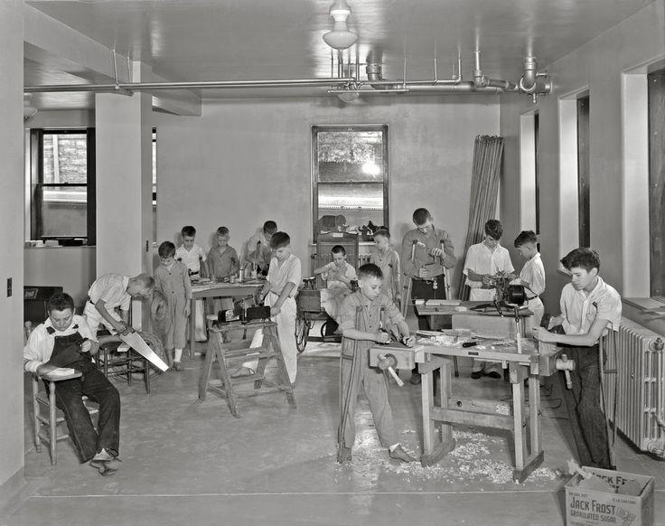 Good Samaritan Hospital, workshop for children, 1931 History in Photos: Lafayette Photo Studio