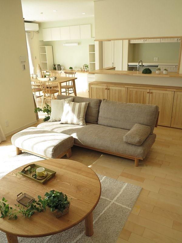 『メープル系の床にナチュラルな家具・カーテンを提案したナチュラルコーディネートを提案』