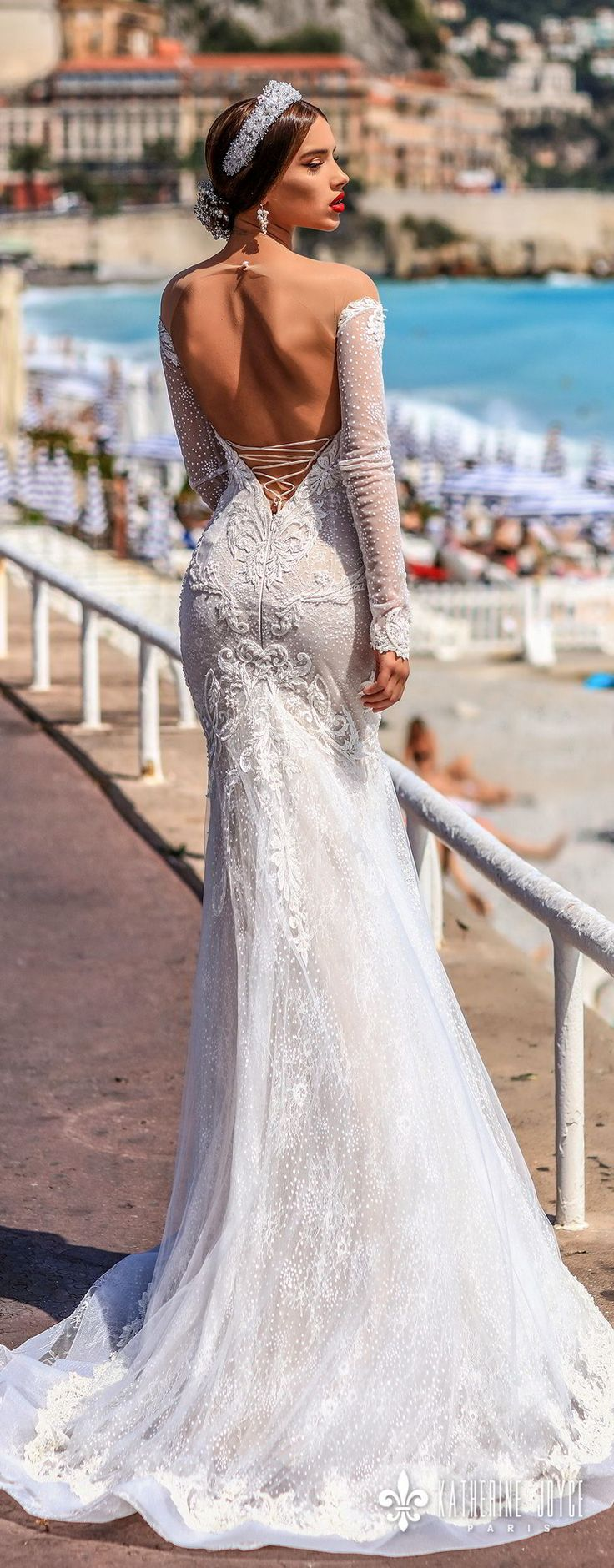 375 best Backless Gowns images on Pinterest | Wedding frocks ...
