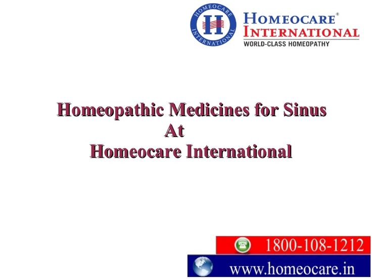 Sinus infection is a very typical condition. It is very important to treat at the first sign of sinus infection. No problem, Homeocare International provides a natural homeopathic remedies. Which helps to cure sinus infections from allergies and relieve sinus pressure from root level. Approach Homeocare International and get rid of sinus pressure. For more Details: Visit Us @ http://www.homeocare.in/sinus-cure.html Contact Us @ 1800-108-1212