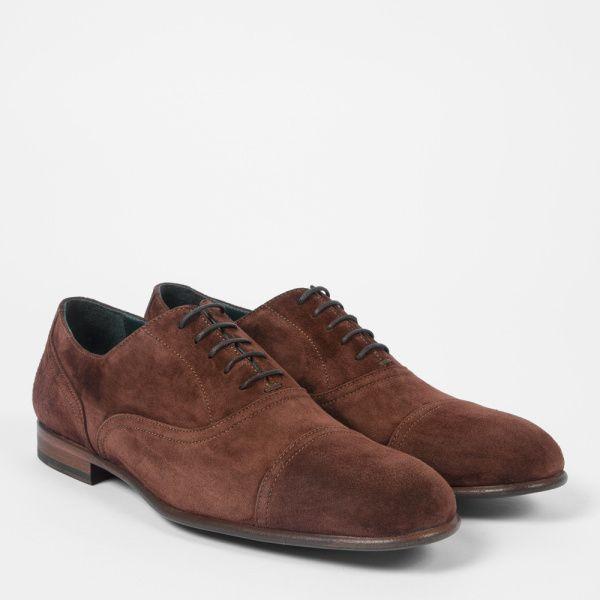 Paul Smith Men's Brown Suede 'Leon' Oxford Shoes