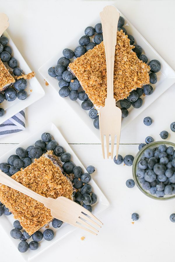 Blueberry Icebox Crunch Cake. Not into the egg whites, but otherwise great!