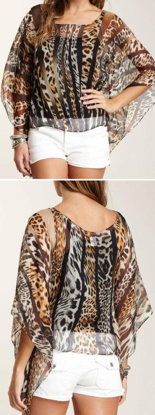 Leopard Silk Blouse //