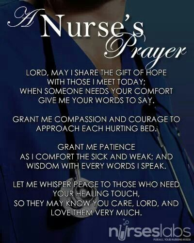 Nurse's prayer to the Lord