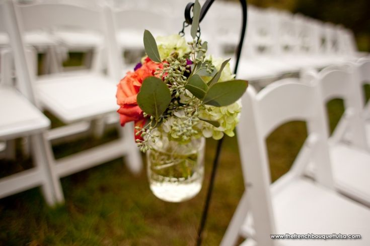 Hanging FFlower Decorations In Mason Jar Country Wedding Pinterest