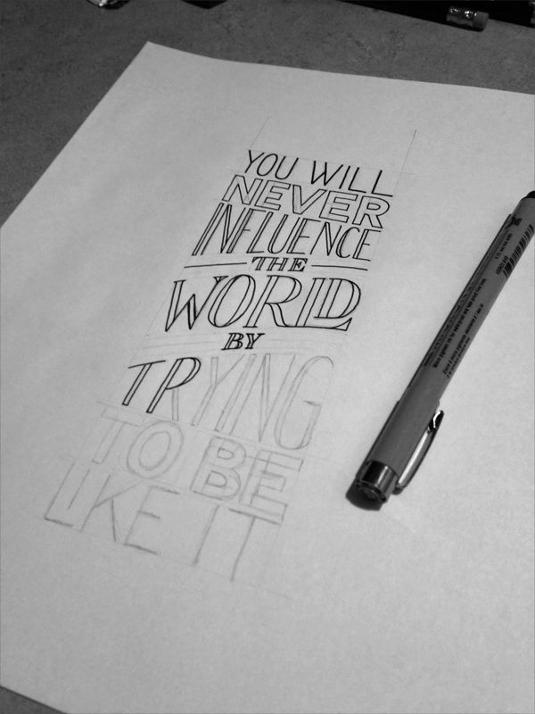 Influence the World by Sean McCabe, via Behance