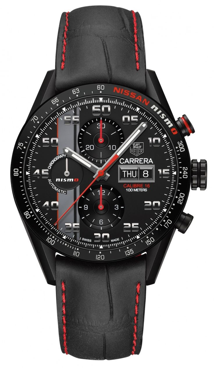 """Introducing the exclusive Carrera """"NISMO"""" Caliber 16 Day-Date Chronograph Special Edition"""