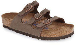Women's Birkenstock 'Florida Birkibuc' Soft Footbed Sandal - $99.95